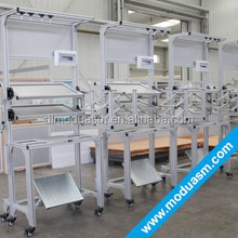 modular structural aluminium sections/work table/workstation for warehouse factory