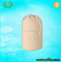 hot sale natural large canvas drawstring laundry bag