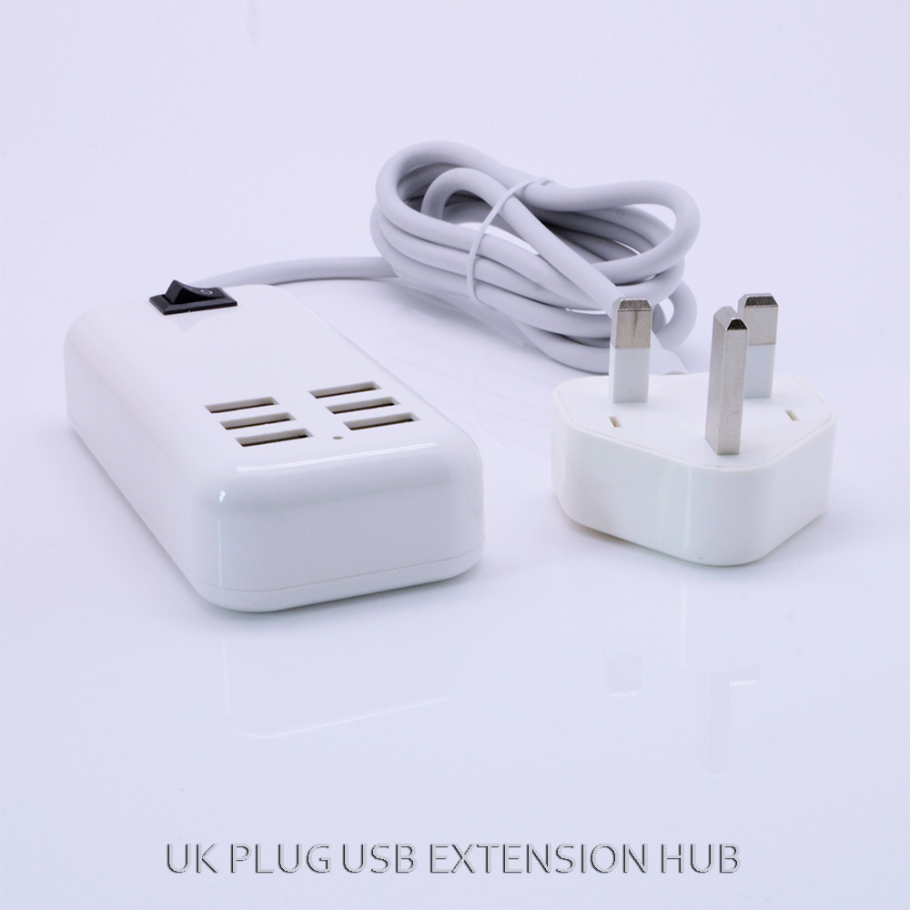 New design USB hub 6 USB power adapter Charger Station