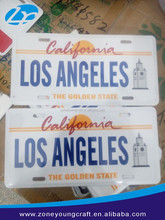 American size high security los angeles license plate