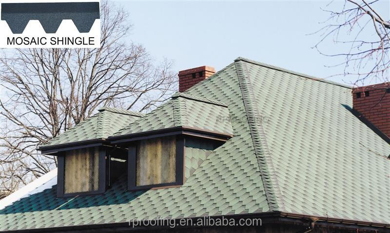 Wholesale Mosaic red roofing shingles,cheap roofing materials for modern house