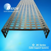 200mm Perforated Galvanized Cable Tray (SGS, UL, cUL, CE)