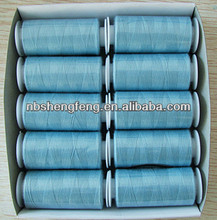 Polyester sewing thread for small bobbin