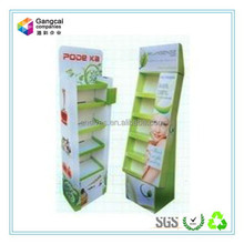 vivid advertising paper display stand /shelf for facial mask