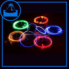 super bright colorful led optical fiber flashing shoelaces