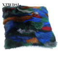 CX-D-55 Factory Price Rabbit Fur Decorative Throw Pillows Bolster
