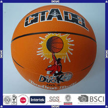 made in china hot selling various sizes colorful oem custom 8 panels PU basketball