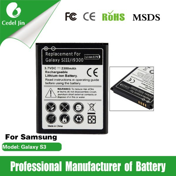 gb t18287 cell phone battery for samsung galaxy s3 i9300 i535/i747/i879/i9082/i9128v/ i9305/i9308/L710/M440S