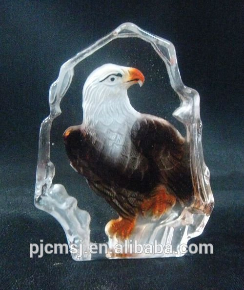 2015 hot sale Cheap crystal iceberg for decoration eagle crystal image