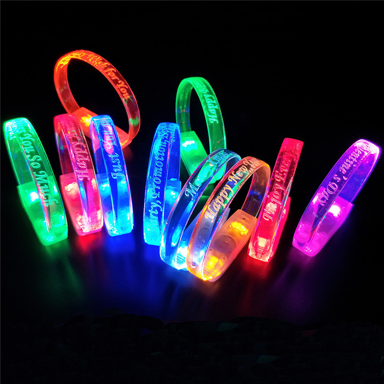 Festivals Promotional Gifts Patented Sound or Music Activated Light Up Led Party Bracelets