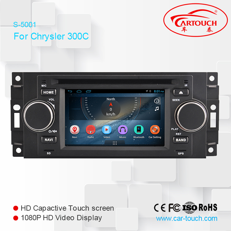 "Quad Core R 5"" Touch Screen 1024*600 Android Car DVD Player for Chrysler 300C 2005- 2007 Radio GPS Navigation"