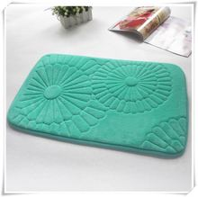 microfiber memory foam door mat with stripe quilted/Memory foam bath mat_ Qinyi
