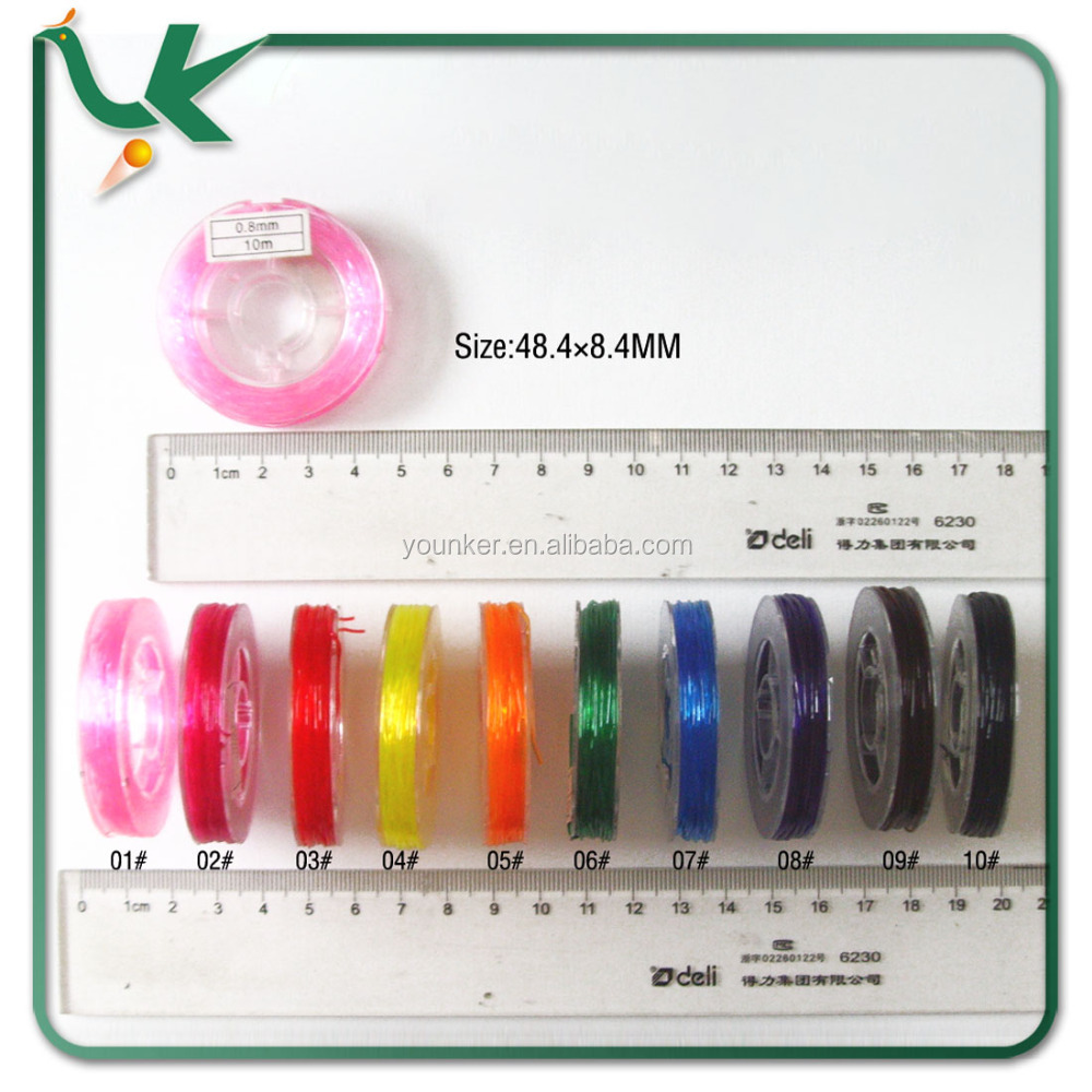Different Colours Round Elastic Jewelry Cord for Bracelet Making