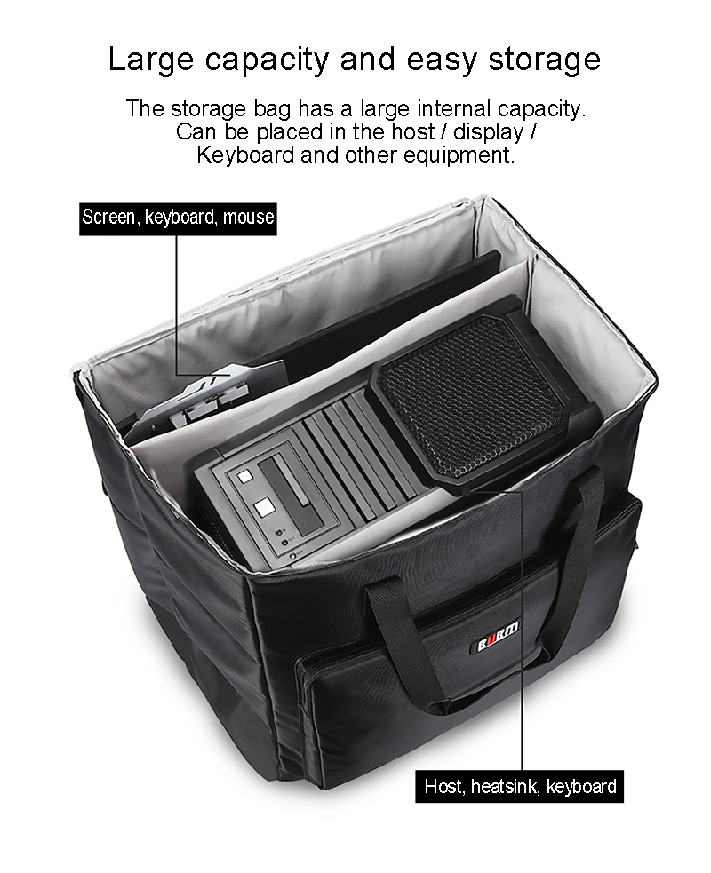 Heavy duty nylon portable carrying bag  monitor tote bag