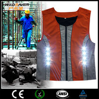 Sleeveless Led lighting workwear flashing clothing
