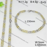 Latest design stainless steel goal jewelry set