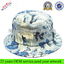 2012 new designer printed custom short floral bucket hats