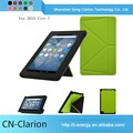 New Fancy Protective Case Universal Leather Case Tablet Pc Case for fire 7 origami case