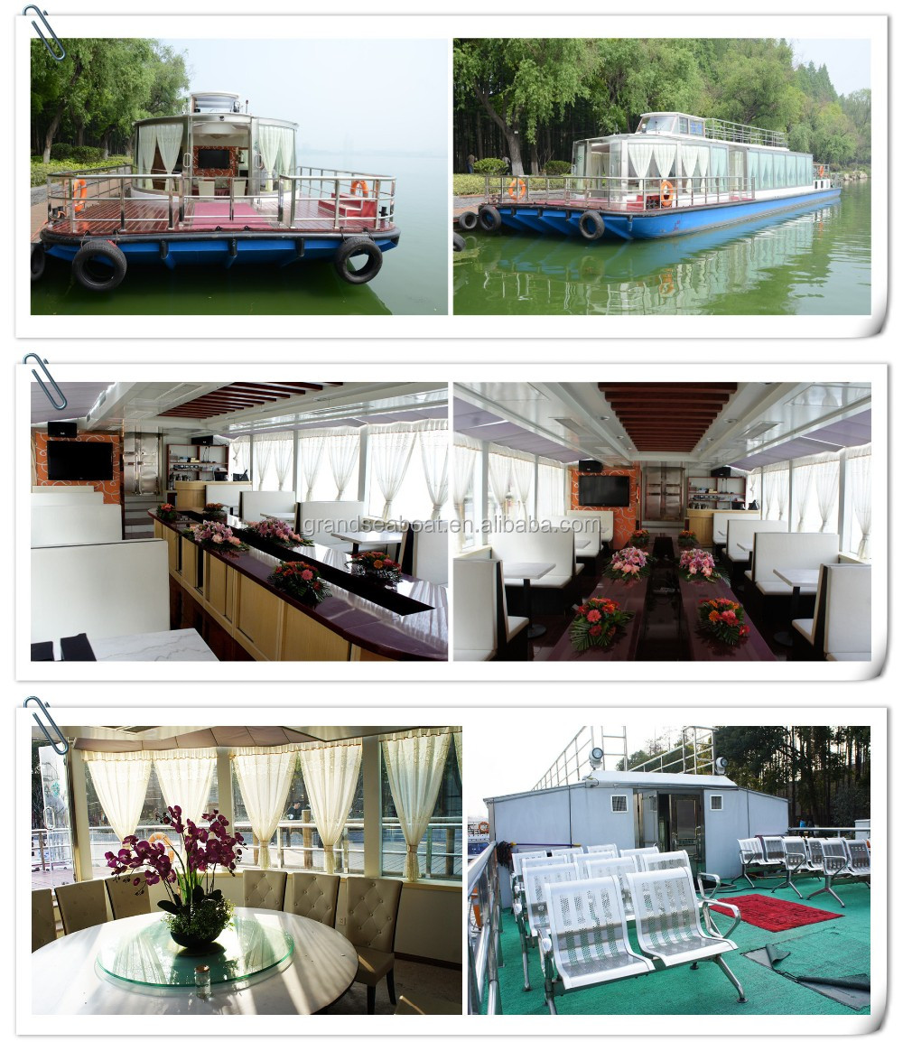 Luxurious Tourism Steel Material Barge Passenger Crew Boats for sale