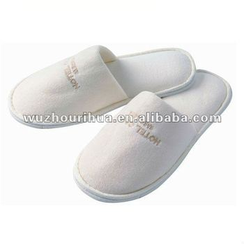 Hot sales closed toe hotel terry towel disposable slipper