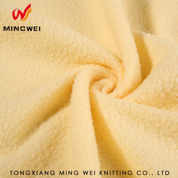 China Supplier Comfortable Soft Dyeing Polar Fleece Fabric for Gloves