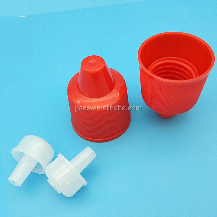 22mm PP plastic toilet cleaner bottle cap plastic screw cap with insert/plug for toilet cleaning bottle