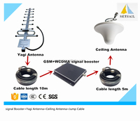 gsm wcdma signal booster with 900/2100MHz telecom mobile signal booster gsm 980 for home use