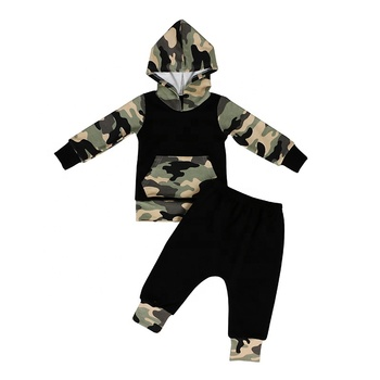 Hot sale top with pants kids baby clothes little boy outfit