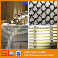 Decorative metal mesh drapery,woven wire drapery