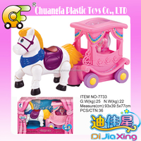Hot toy BO music prince horse carriage, Electric carriage toys with light & music toys for sales