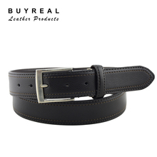 Men's Dress Reversible Leather Belt with Pin Buckle