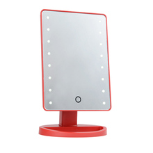 Factory sales dressing bedroom mirror with light and led desktop mirrors with touch screen sensor switch