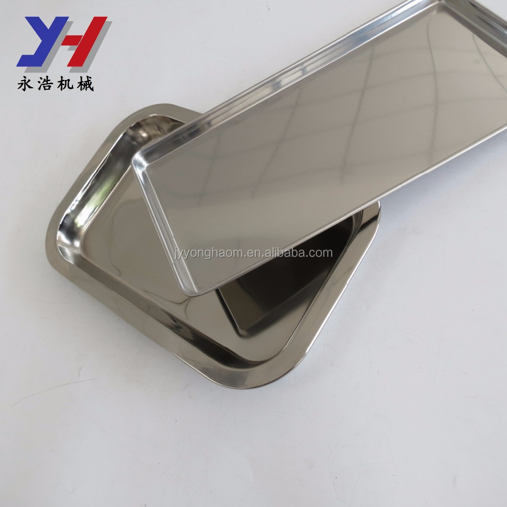 Custom new design polished stainless steel drip tray with drain