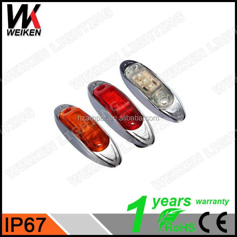 2016 Led Side Marker Light Red/White/Yellow/Amber Signal Lights with New Design for Trucks
