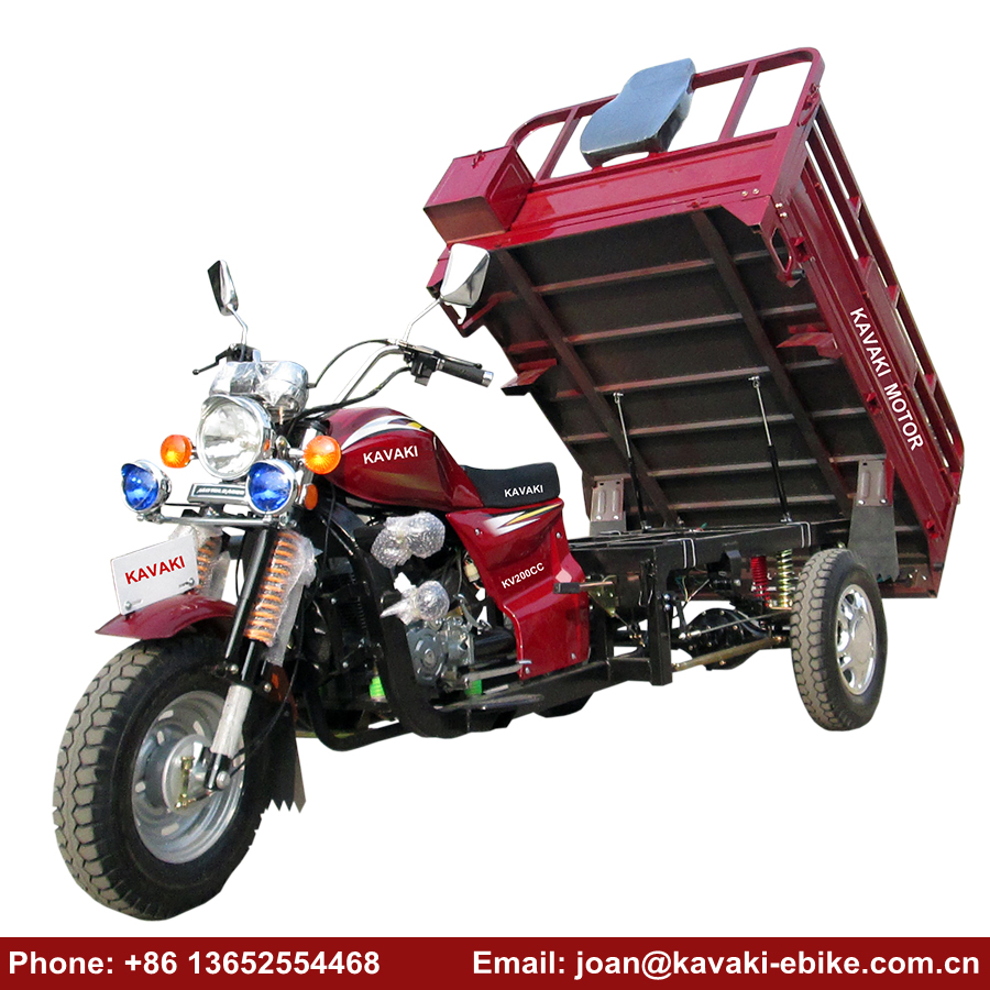 Heavy Load 3 Wheel Adult Car Taxi 150cc Cargo Motor Tricycle Automatic Unloading Lifan Motorcycle Trike on Sale