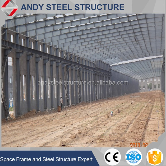Metal building construction industrial shed prefabricated light steel structure for exports