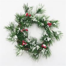 Christmas tree wreath/candle ring use for the house with artificial snow