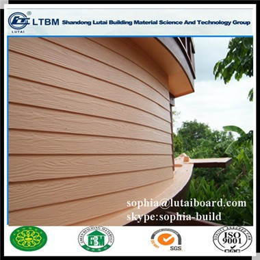 light steel frame wood grain siding panel