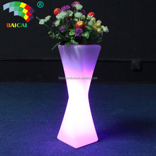 large size plastic flower pot/led planters large / plastic nursery pots
