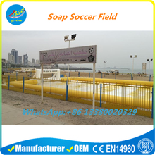 Inflatable Soap Playground Soccer Football Field