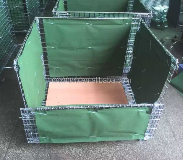 Canvas cover wire mesh container pallet stillage cage