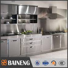 2017 304 GRADE white stainless steel kitchen designs