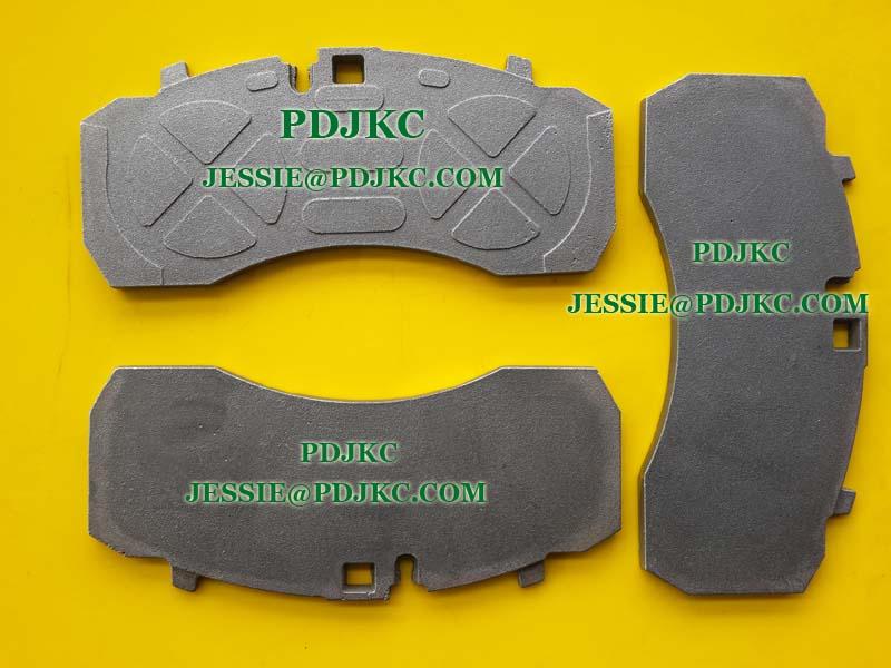 Brake Pad Material Types : Ceramic brake pad wva view