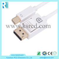 Mini DP to DisplayPort DP 1.2 Cable Male to Male Mini Displayport to Displayport connecting cable for computers