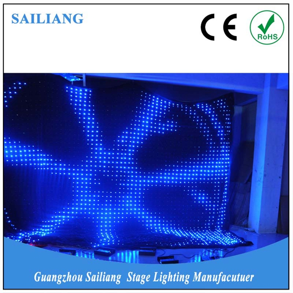 Stage cloth light DMX P5 screen display video flexible led curtain