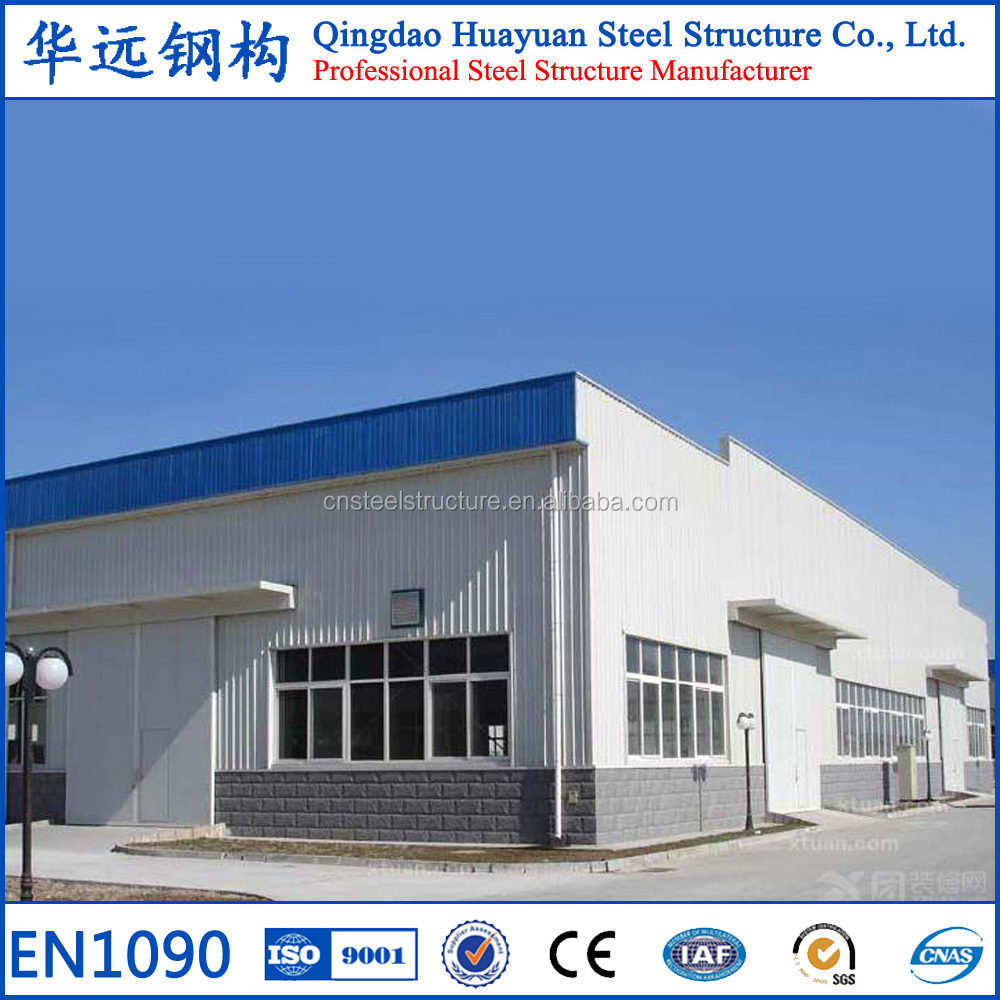 Large span prefabricated light structural steel industry building