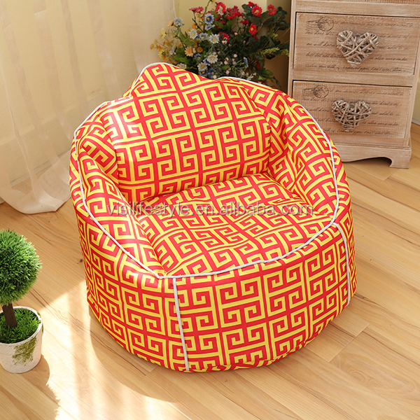 Home bedroom furniture orange wave bean bag armchair round chair