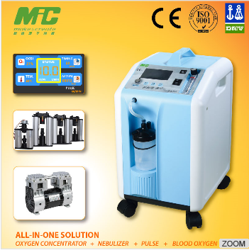 Portable oxygen concentrator for home health care CE certified China manufacturer supply 3L/5L/10L