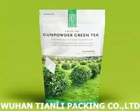 FDA EU standard customized biodegradable laminating CMYK calendar printing green coffee tea bags