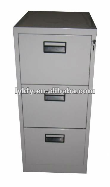 KFY-B-03 Gray 3-Drawer Office Cabinet Furniture Office Depot